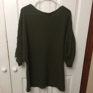 Siren Lily 1X Olive Green Sweater